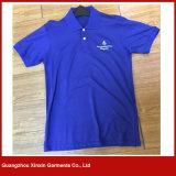 Ropa barata por encargo de la camisa de polo del poliester del precio de la fábrica (P140)