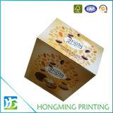 Caixa de embalagem de papelão ondulado impresso personalizado para alimentos