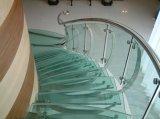 Втройне Sandblasted ясностью закаленные проступи лестницы прокатанного стекла