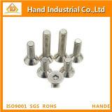 Parafuso principal de Csk do soquete Hex do aço inoxidável M4-20 DIN7991
