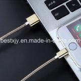 Cabo do carregador dos dados do USB do aço inoxidável 5V 1.5A para o telefone móvel