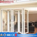 10 ans de garantie de qualité Double vitrage en aluminium Porte pliante en aluminium