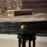 Conjunto de móveis de restaurante durável com cadeira de madeira de cinza e mesa de ferro fundido (SP-CT783)