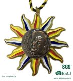 Zink-Legierungs-Antike verzinnte Insel-Form-Betrieb-Preis-Medaille
