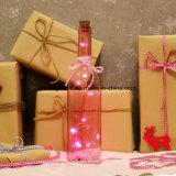 Botella de hadas micro de la luz de la cadena del corazón LED de 10 rojos para los regalos de los amantes del día de tarjeta del día de San Valentín