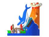 Opblaasbare Dia van de Vulkaan van het Ontwerp van de fabrikant de Gekke voor Partij