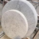 Parte superior de tabela de mármore redonda de mármore da laje da tabela de jantar do projeto simples