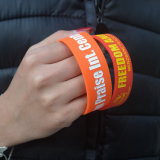 Bracelet en caoutchouc silicone en forme de bracelet personnalisé avec forme ronde