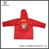 아이들 PVC 아이를 위한 플라스틱 비옷 빨간 비옷