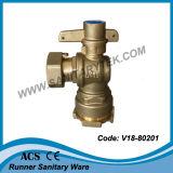 Vanne à bille verrouillable en laiton droite pour le compteur d'eau (V18-807)