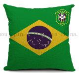 Изготовленный на заказ валик подушки подкладки клуба футбола баскетбола национального флага для промотирования