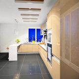 光沢度の高いラッカー台所食器棚