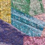 Couro de sapatas luxuoso do PVC do plutônio do Synthetic