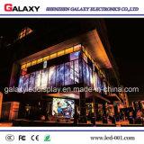 Pantalla de visualización video transparente a todo color de LED de la pared P5-8 para el anuncio al aire libre de interior del anuncio publicitario del uso