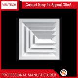 Ventilation Fourniture de mur en aluminium Grilles à double grille de déflexion