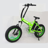 """20 """" 인치 Foldable 도시 바닷가 눈 산 뚱뚱한 타이어 전기 자전거"""