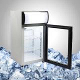Малый стеклянный коммерчески холодильник индикации