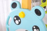 بعض زرقاء ثلاثة نقّال فضلات دبّ منزلق داخليّة بلاستيكيّة مع أرجوحة لأنّ أطفال ([هبس17020])