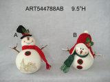 """8 """"H Moose y Bear Treat Jar Decoración de Navidad Gift-2asst"""