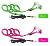 Metal Zipper Wired Headset Headphone Fone de ouvido