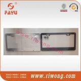 Revestimiento de polvo negro Coche personalizado en blanco cubierta de la placa de licencia