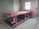 Macchina rotativa di vendita calda di scambio di calore di stile 600mm*1.7m di tendenza con il rullo di riscaldamento due per stampaggio di tessuti del rullo