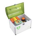 Коробка скорой помощи малого размера алюминиевая с замком ключа безопасности