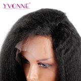 Peruca reta Kinky da parte dianteira do laço do cabelo brasileiro do Virgin