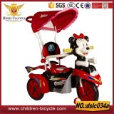 相違のペダルおよび傘の子供の三輪車が付いている車3wheelsのモデル赤ん坊の乗車