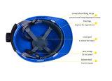 Vモデル安全ヘルメット、ABSヘルメット、セリウムEn397の構築Helemt
