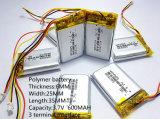 Batterij 3.7 V, 600 602535 van het Lithium van het polymeer kan de Aangepaste In het groot FCC RoHS MSDS van Ce zijn Certificatie van de Kwaliteit
