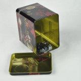 Geschenk-Speicher-Kanister-Blechdose-Behälter-Tee-Nahrungsmittelmetallrechteckiger Zinn-Kasten