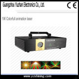 Animación de luz láser etapa DMX512 ordenador 1W Colorfull