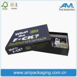 Dos piezas personalizadas impresas Embalaje de papel Caja de regalo de la tarjeta de juego Caja de almacenamiento con tapa y base