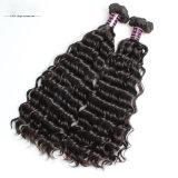 100人のバージンのWeftブラジルのRemyの毛人間の毛髪の織り方