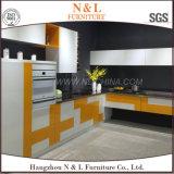 Do pó novo da chegada de N&L gabinete de cozinha colorido revestido do aço inoxidável