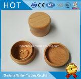 Rectángulo redondo de madera de haya de la insignia de encargo mini