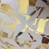 304 Acero Inoxidable Color Plata grabado de hoja de Kem009