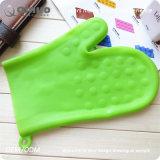 [نون-سليب] نسيج اللون الأخضر سليكوون قفّاز لأنّ تحميص [أنغ] مطبخ يشوي يطبخ