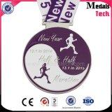 2017 Custom Zinc Alloy Marathon Running Title Médaille de course sportive