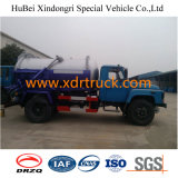 Dongfeng 5.25cbm camión cisterna de succión de aguas residuales