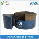 Dom feitas de papelão jóias de embalagem como madeira Caixa com tampa e base