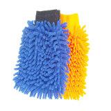 Venta caliente dos lados cómodo y duradero de guantes de limpieza de microfibra