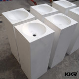 La Chine solide blanc du bassin de la salle de bains & puits de surface