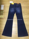 pantalones vaqueros de las mujeres del dril de algodón 8.8oz (HYQ112-10GDT)