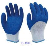 перчатка латекса Polycotton резьб 10g 5
