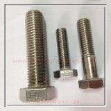 Boulon d'hexa d'acier inoxydable de constructeur de dispositif de fixation d'A4-80 DIN933