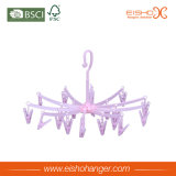 Eisho разветвляет розовая пластичная вешалка с Multi зажимами