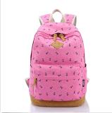 Trouxa bonito ocasional do saco do portátil da escola das mulheres da trouxa da senhora Menina Versátil Vintage Lona