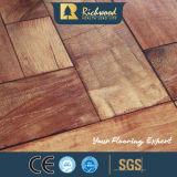 8.3mm E1 AC3 HDF Texture Teak Stratifié à l'épreuve du bois Plancher en bois stratifié